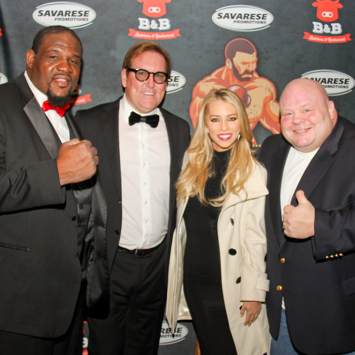 "Houston, Black Tie Boxing Benefiting Lone Survivor Foundation, Feb 2017, Riddick Bowe, Sean Finn, Lindsay McCormick, Eric ""Butterbean"" Esch"