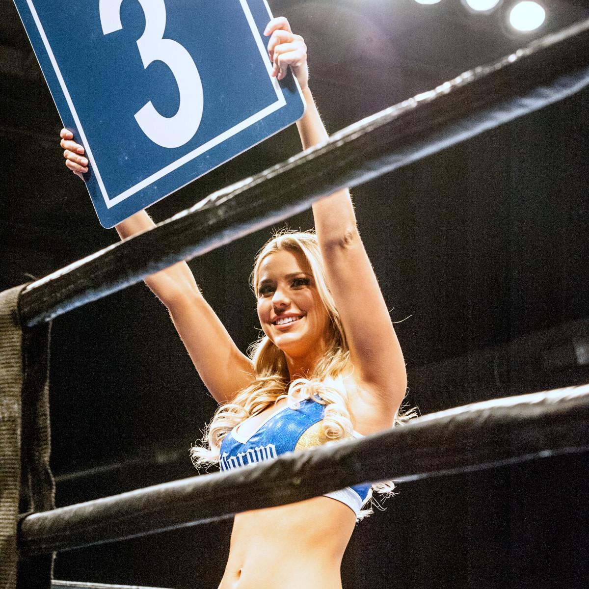 Houston, Black Tie Boxing Benefiting Lone Survivor Foundation, Feb 2017, the ring girl