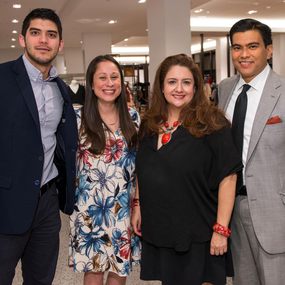 Houston, Latin Women's Initiative Fashion Show and Luncheon, feb 2017, Hector Pena, Lauren Soliz, Sonia Soto, Jose Medrano