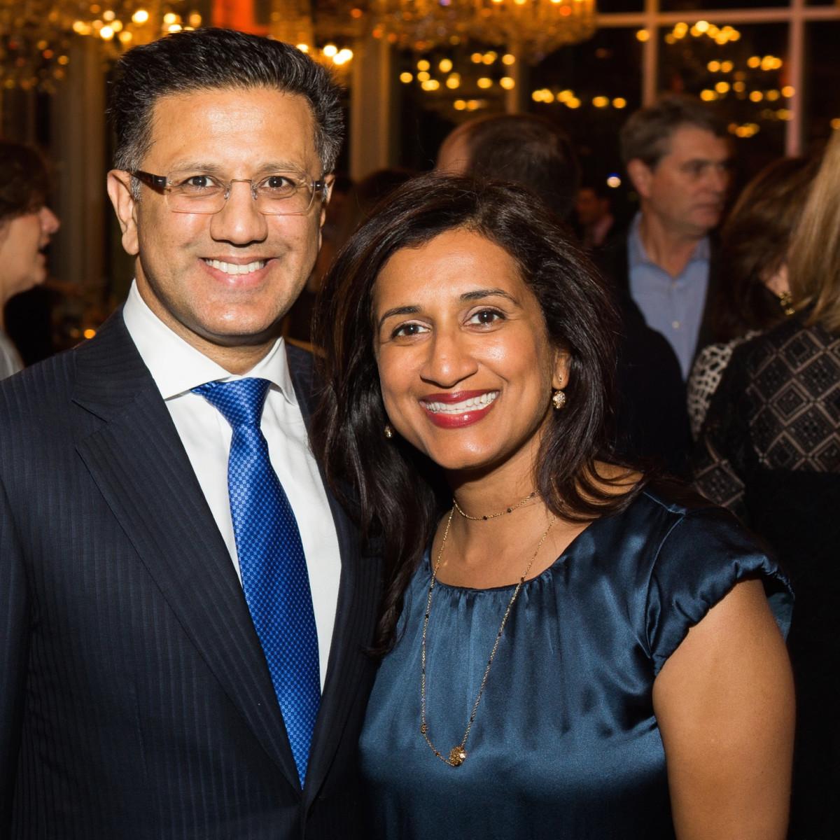 Badar Kahn, Masu Khan at UTHealth Children's Learning Institute's fifth annual tasting dinner