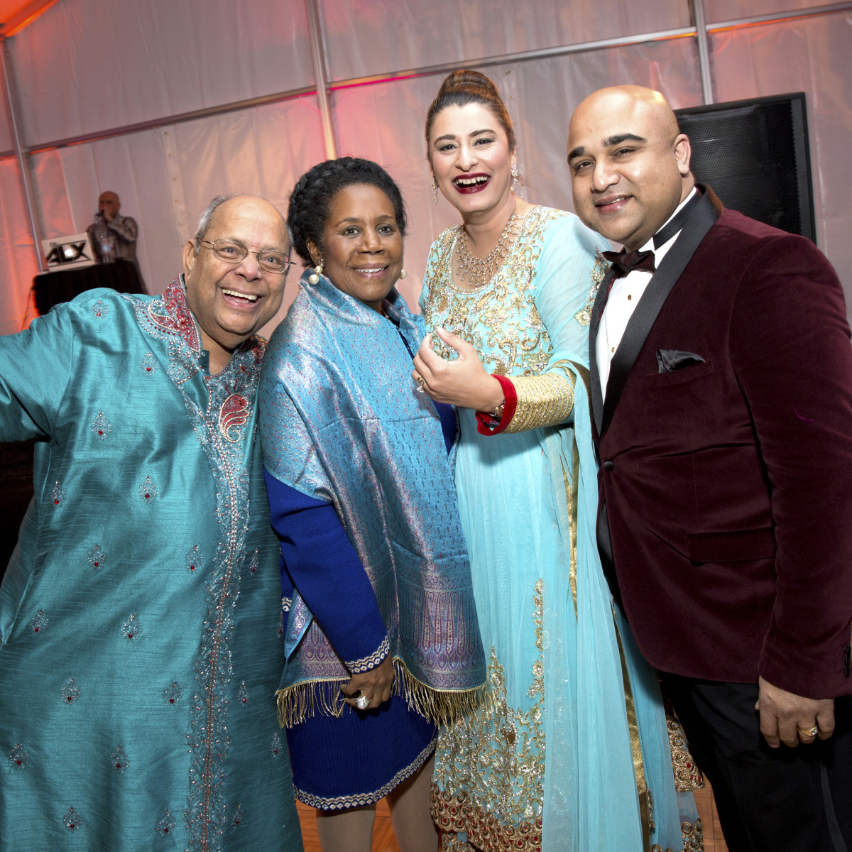 Houston, Tiger Ball, March 2017, Nat Krishnamurthy, congresswoman Sheila Jackson Lee, gala guest