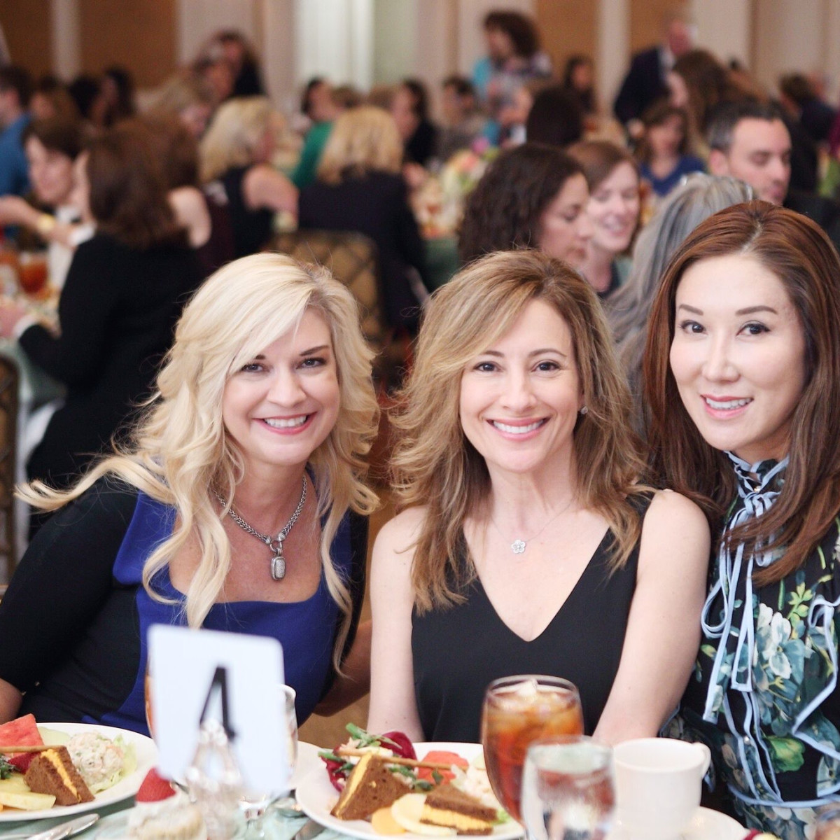 ChildBuilders luncheon Tammie Johnson, Dena Winkler and Mandy Kao