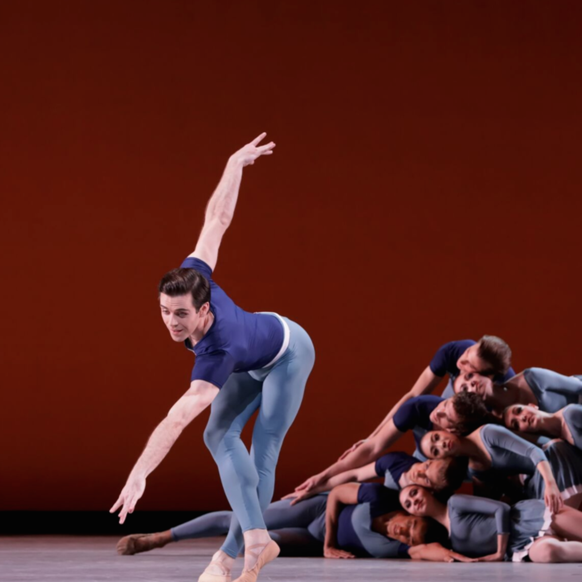 Connor Walsh with Artists of Houston Ballet in Justin Peck's Year of the Rabbit