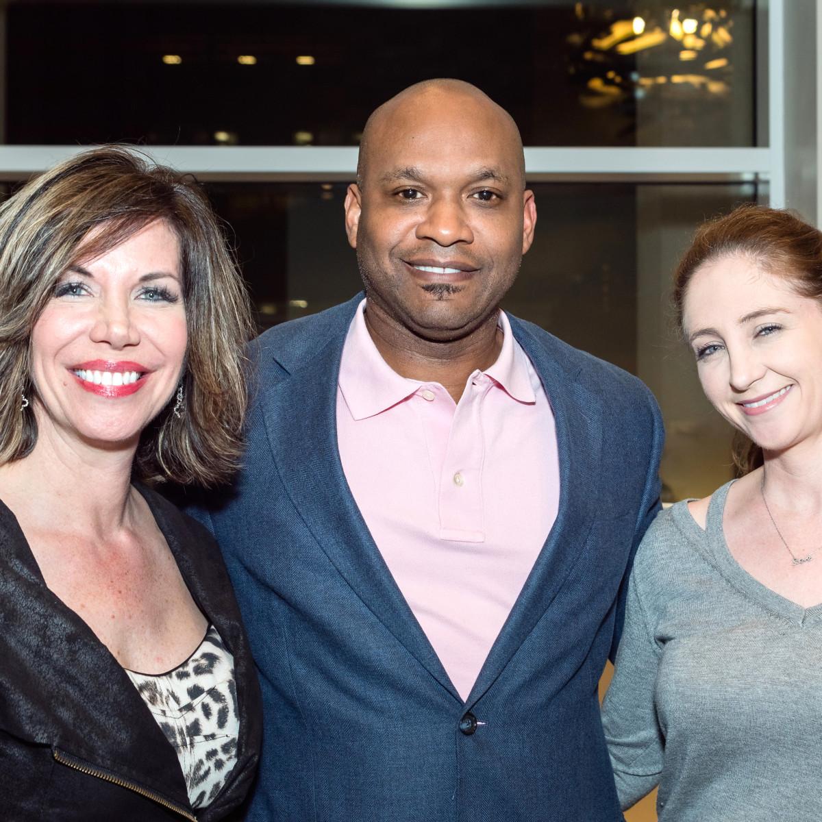 Houston, Pratham Houston's gala kickoff, March 2017, Roseann Rogers, Arthur Siberand, Angela Strum