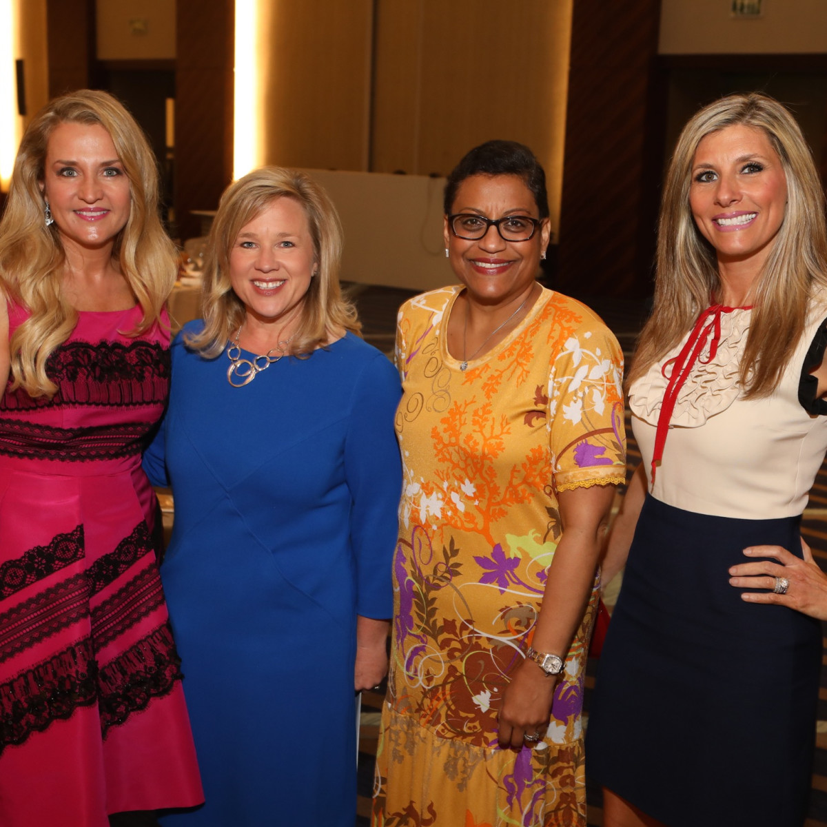 Mary D'Andrea, Jennifer Gammel, Stacey Stewart, Gina Bhatia at Best Dressed Luncheon 2017