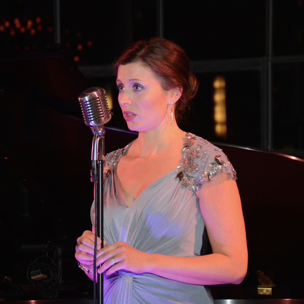 Callie Denbigh performs at the 2017 Da Camera Gala