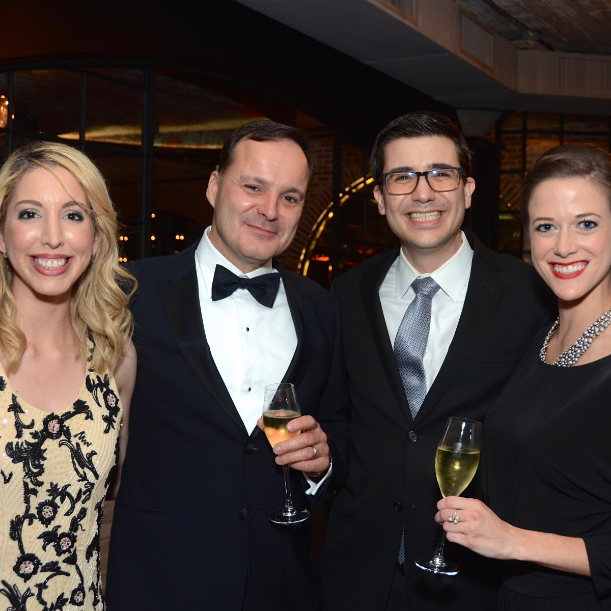 Ingrid Hunter; Luc Messier; Nico Roussel; Teresa Procter at 2017 Da Camera Gala