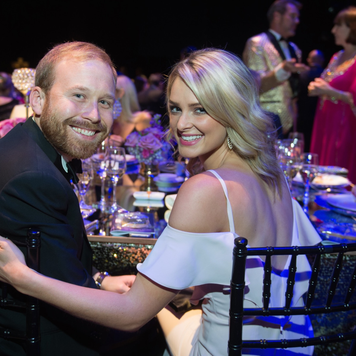 Pierce Bush, Sarabeth Melton at TUTS Dreamgirls gala 2017