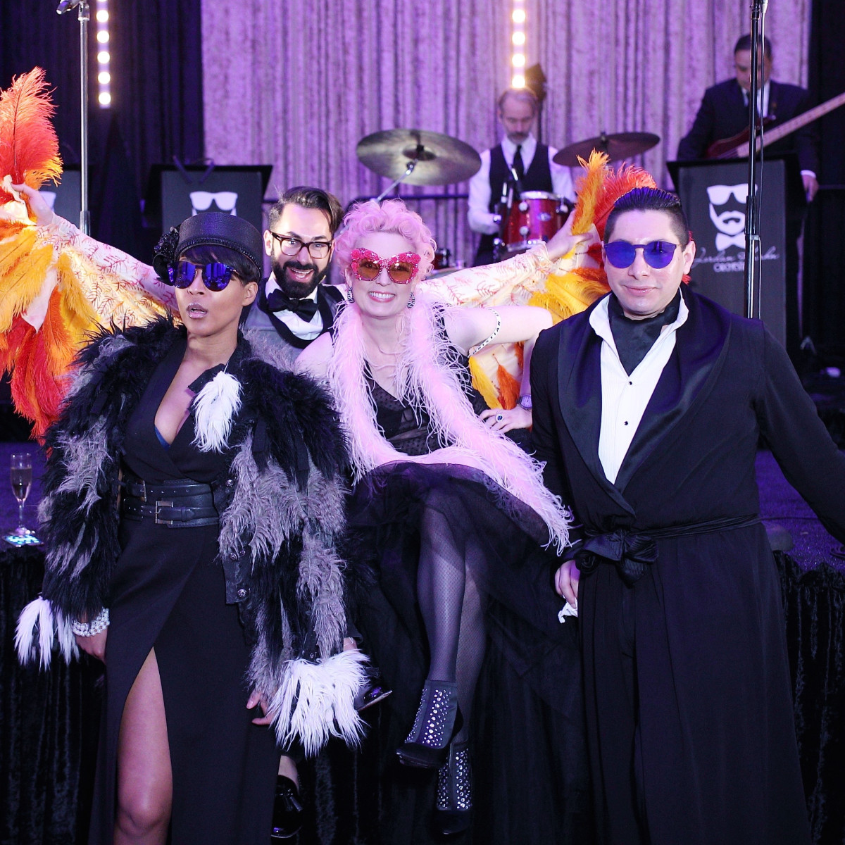Megan Bailey, Fady Armanious, Vivian Wise, Christian Miranda at Stages Gala 2017
