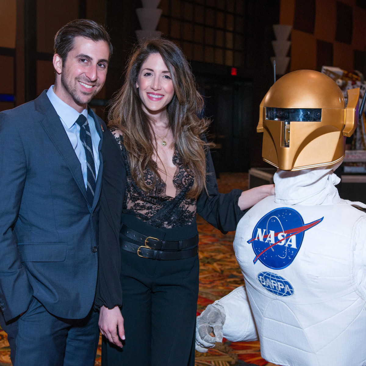 Houston, Space Center Houston Galaxy Gala, April 2017, Jay Zeidman, Anat Zeidman, NASA Robonaut