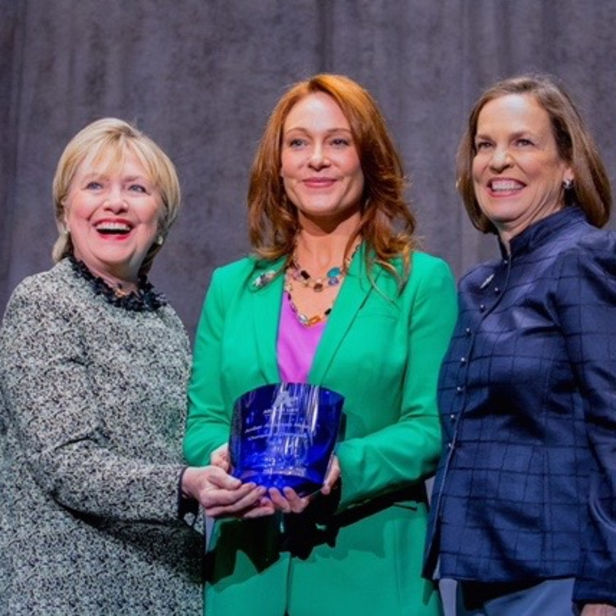 Hillary Clinton, Amber Anderson Mostyn, Patsy Woods Martin at Annie's List luncheon