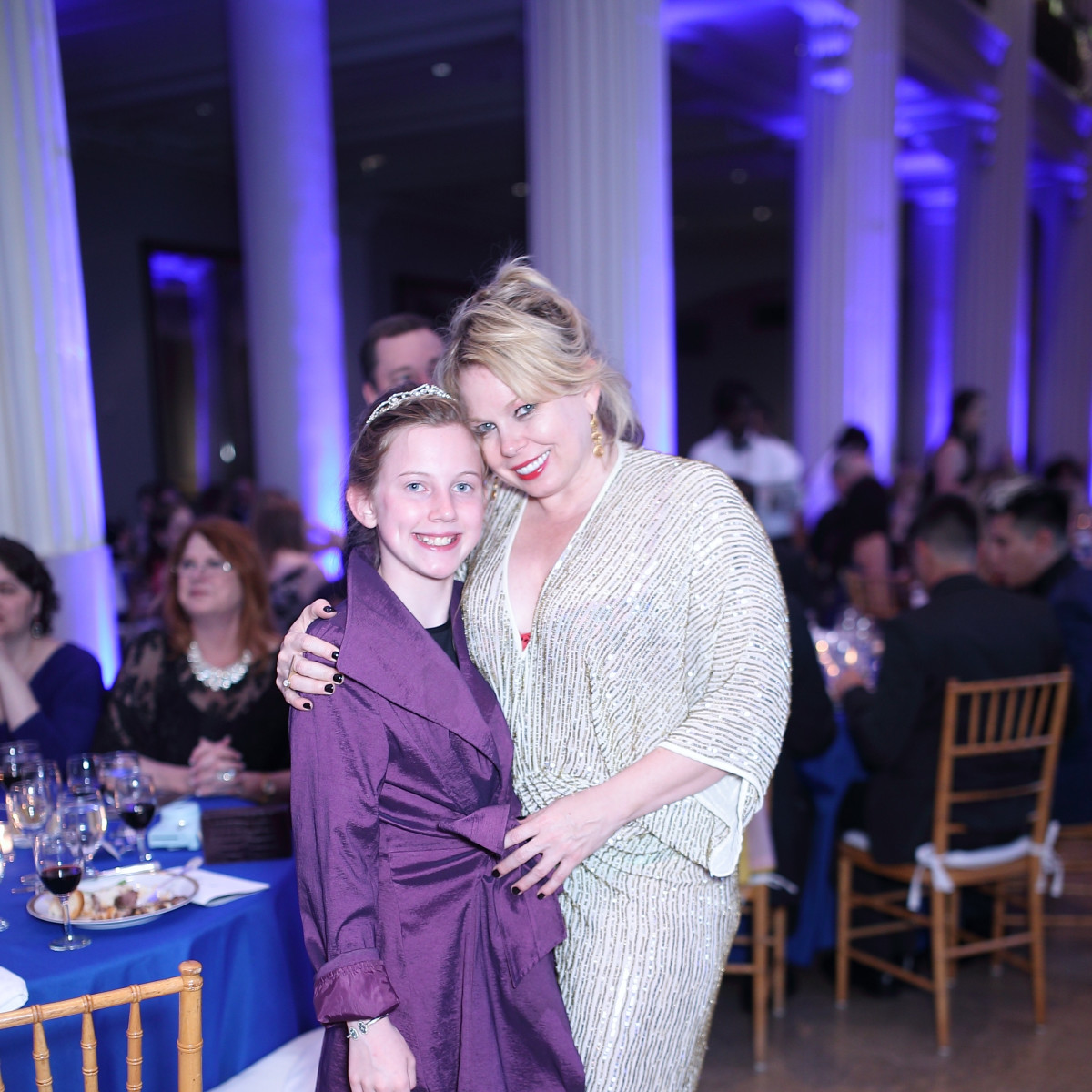 Tammy Dowe and daughter Lillian at Denali Gala