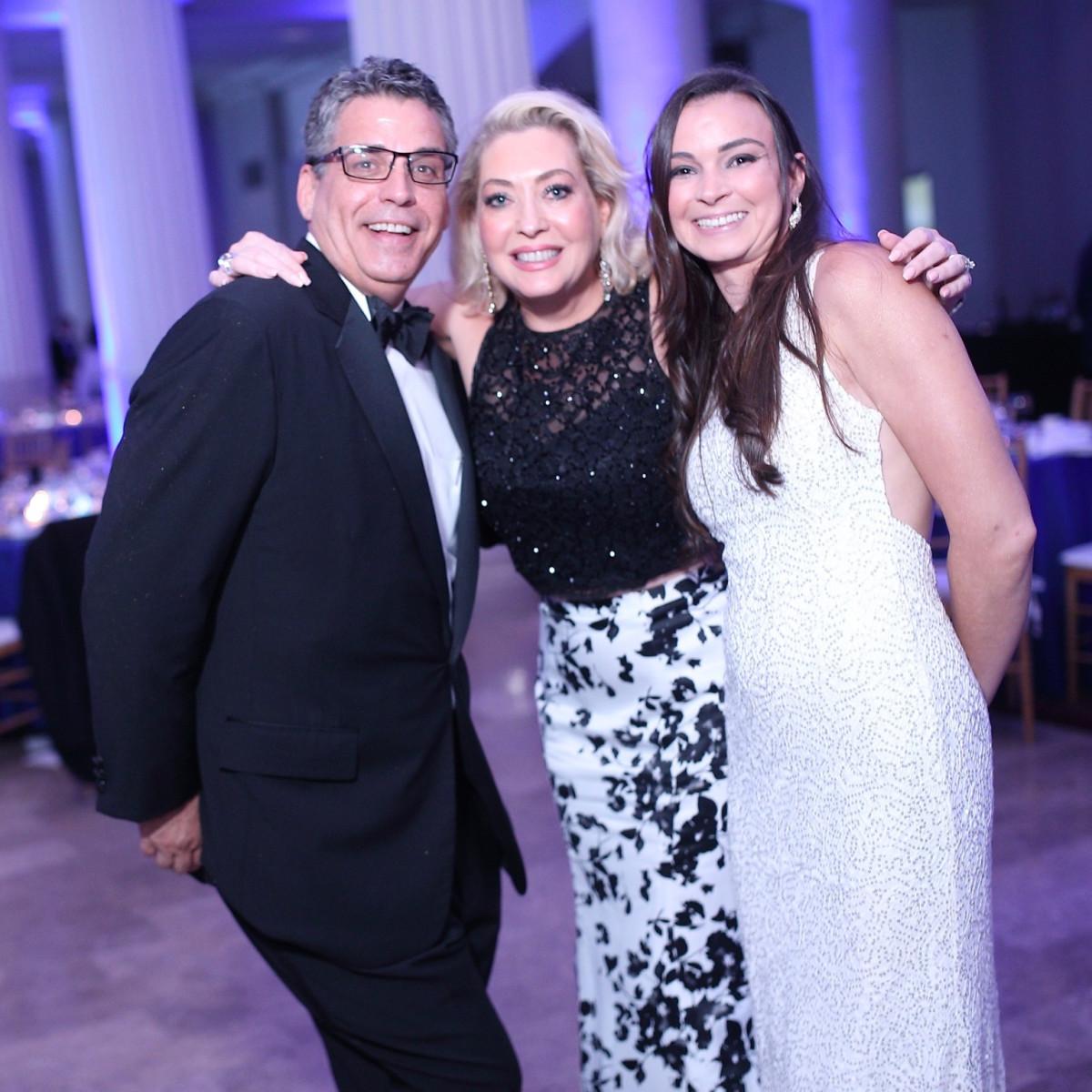 Enrique Salinas, Lily Salinas, Francesca Salinas at Denali Gala