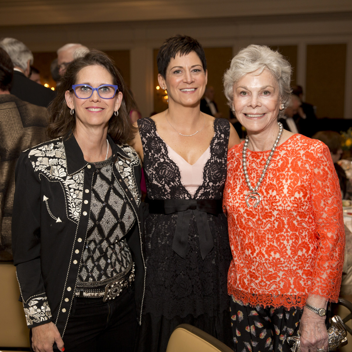 Houston, Blue Bird Circle Gala with Lyle Lovett, April 2017, Elizabeth DeLuca, Colleen O'Brien, Janice McNair