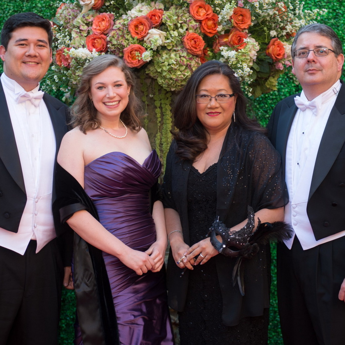 Houston, Houston grand opera ball, April 2017, David Catalano, Eleanora Benedict, Anna Catalano, Joel Catalano