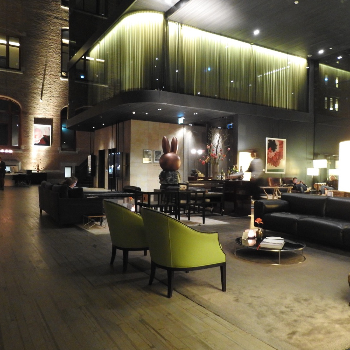 the hip sophisticated lobby of Hotel Conservatorium