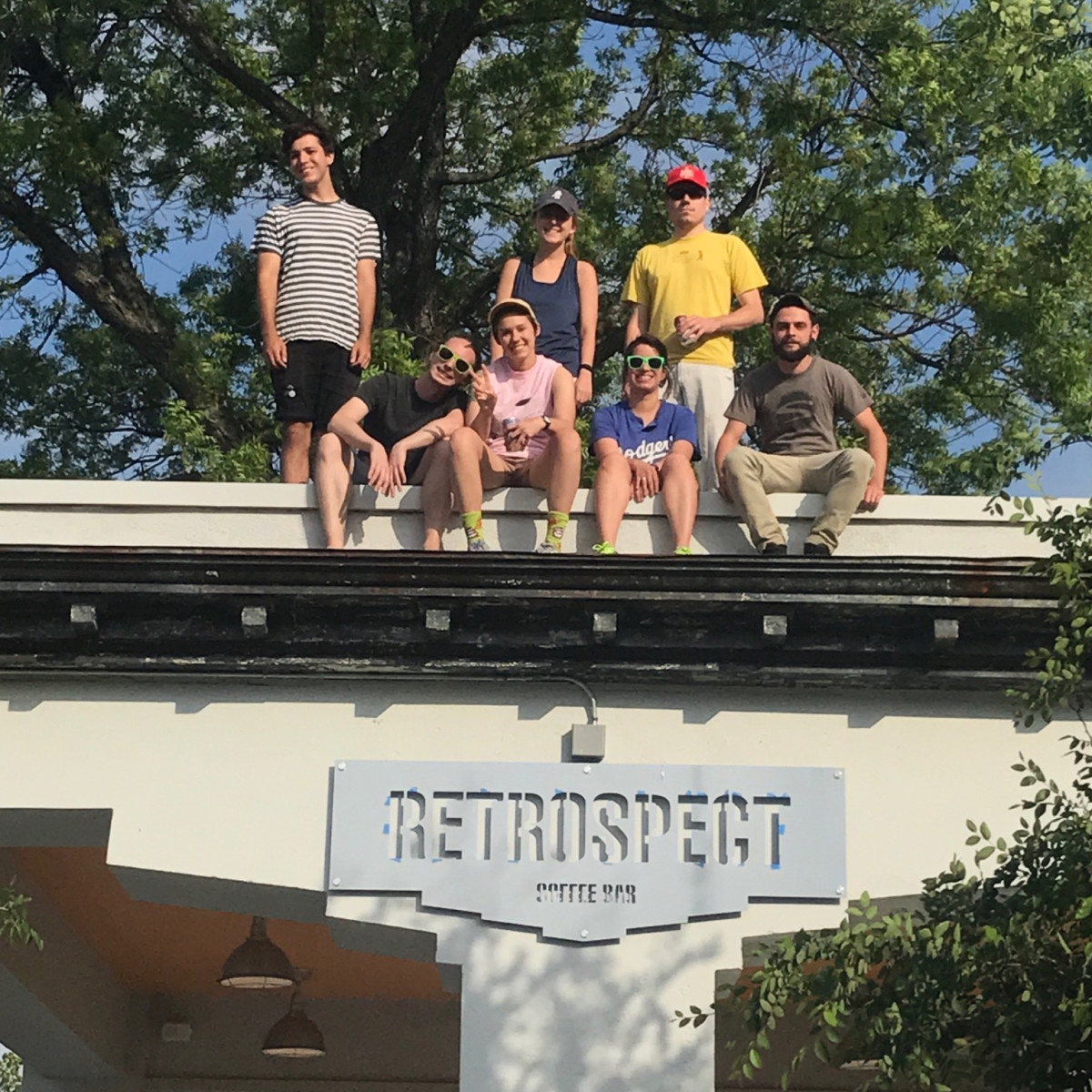 Retrospect Coffee Bar staff roof
