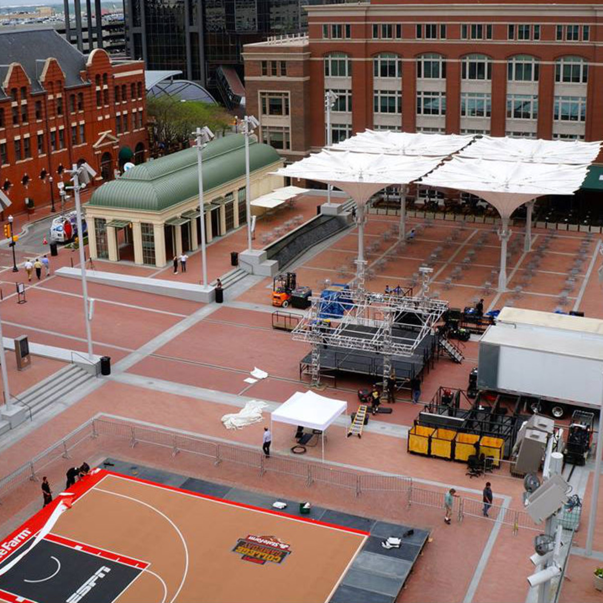 ESPN College Gameday in Sundance Square Plaza