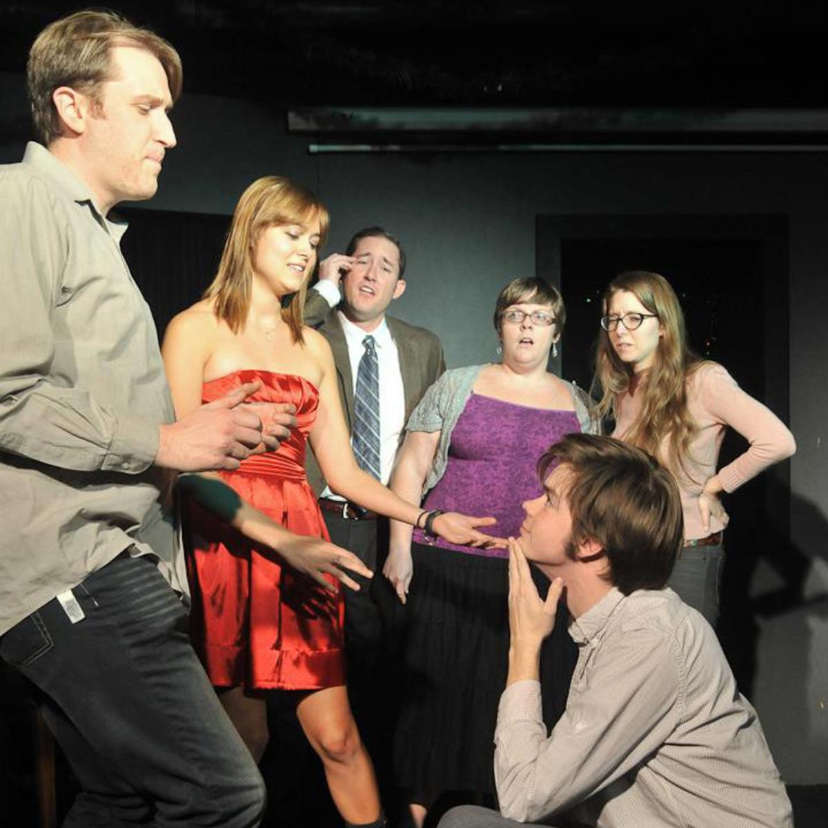 Austin photo: Events_Improv wins_megaphone show_feb 2013_improv sketch