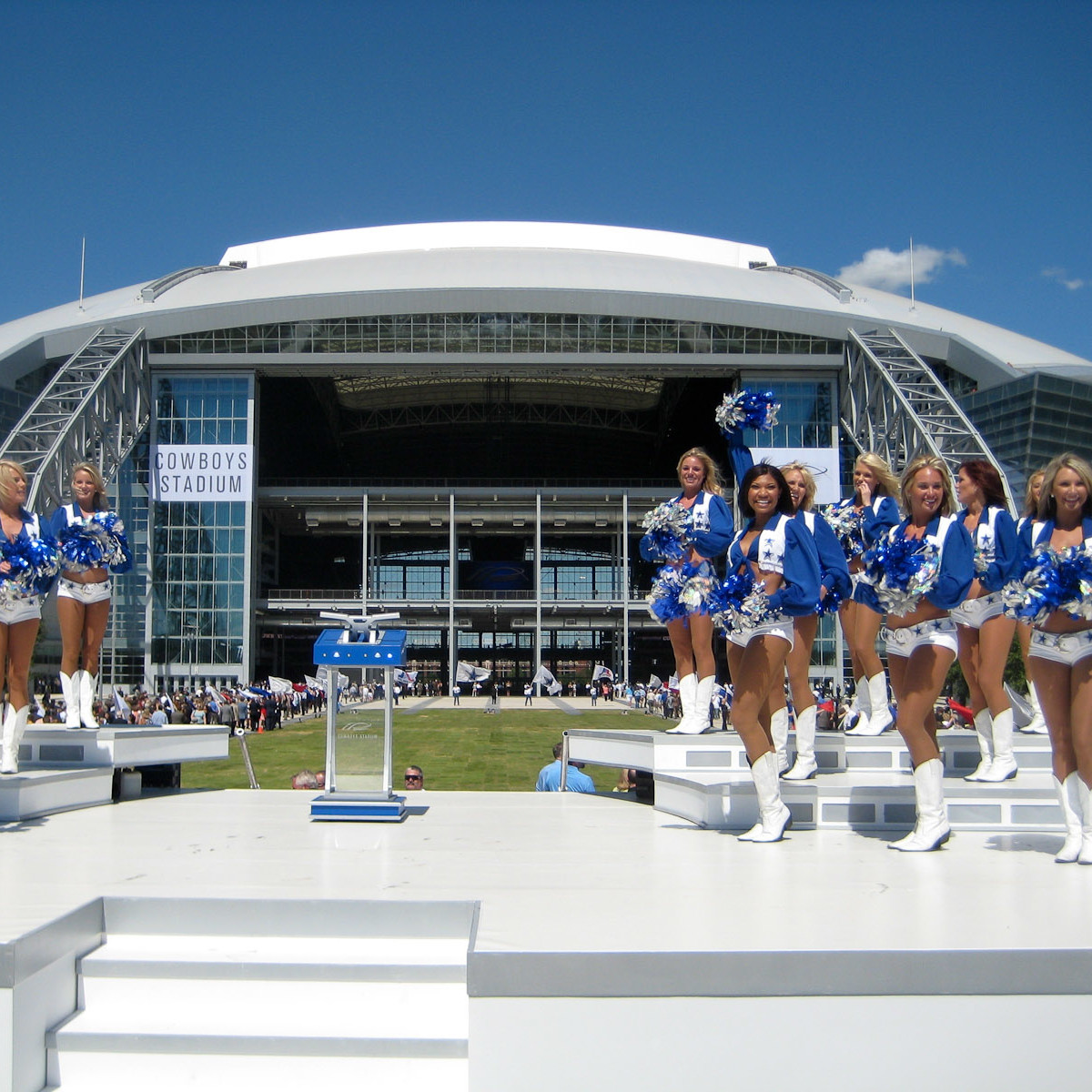 Dallas Cowboys cheerleaders at Cowboys Stadium in Arlington