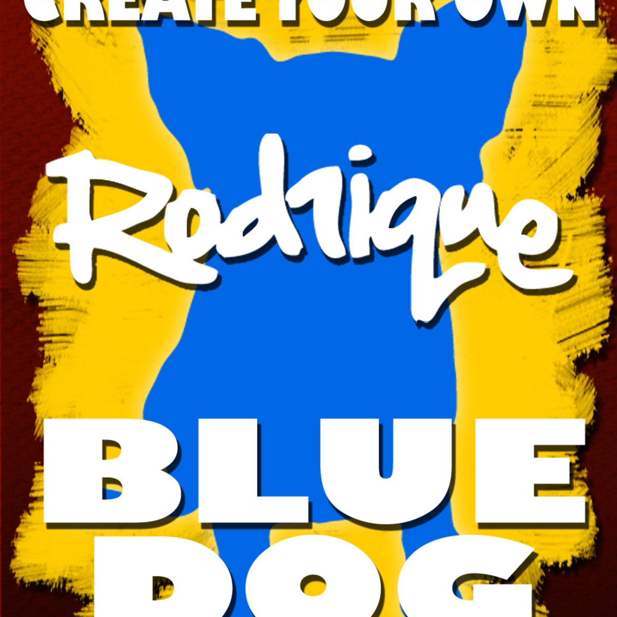 Paint Your Own Rodrigue Blue Dog