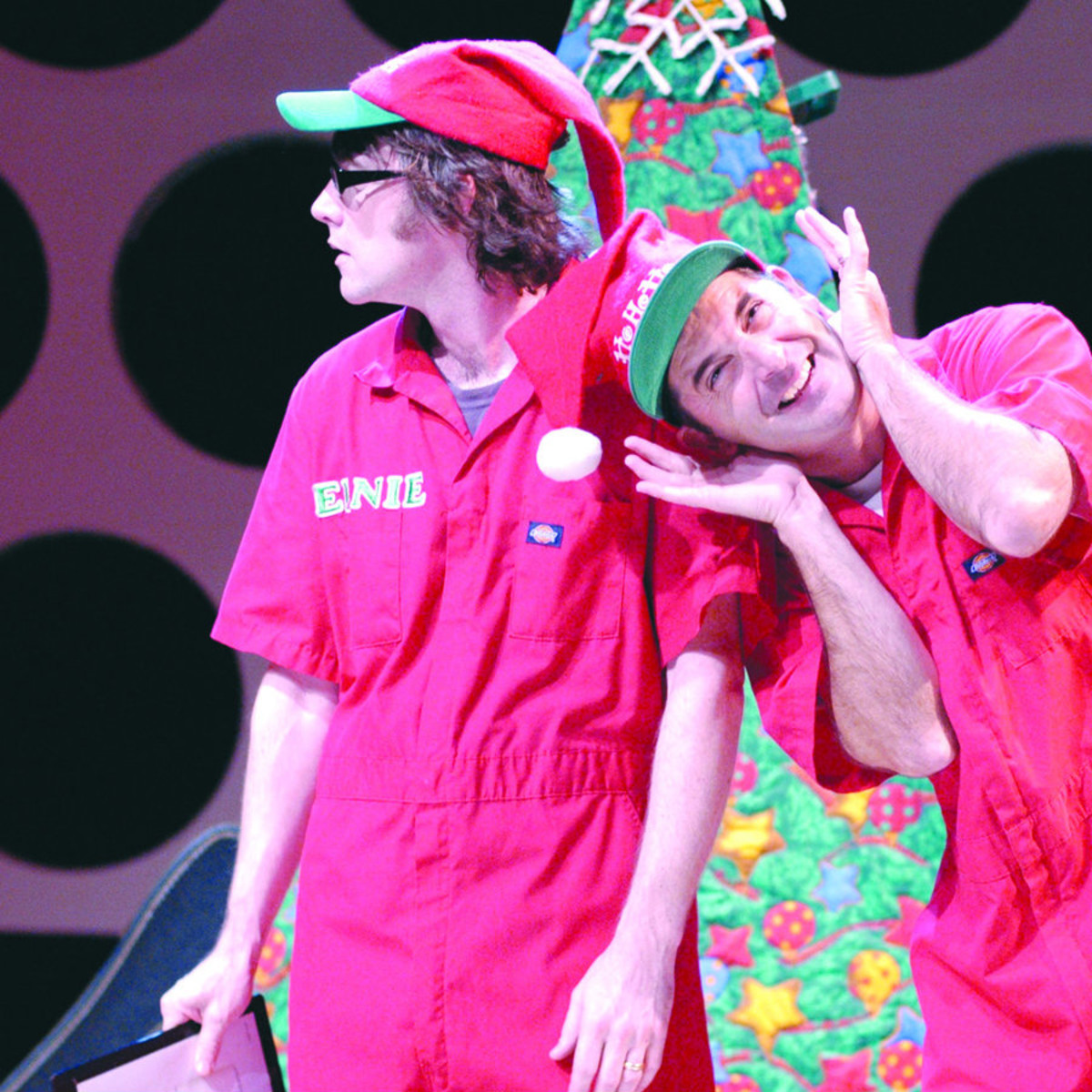 Actors Shaun Wainwright-Branigan and Jerome Schoolar in ZACH theatre performance Holiday Heroes