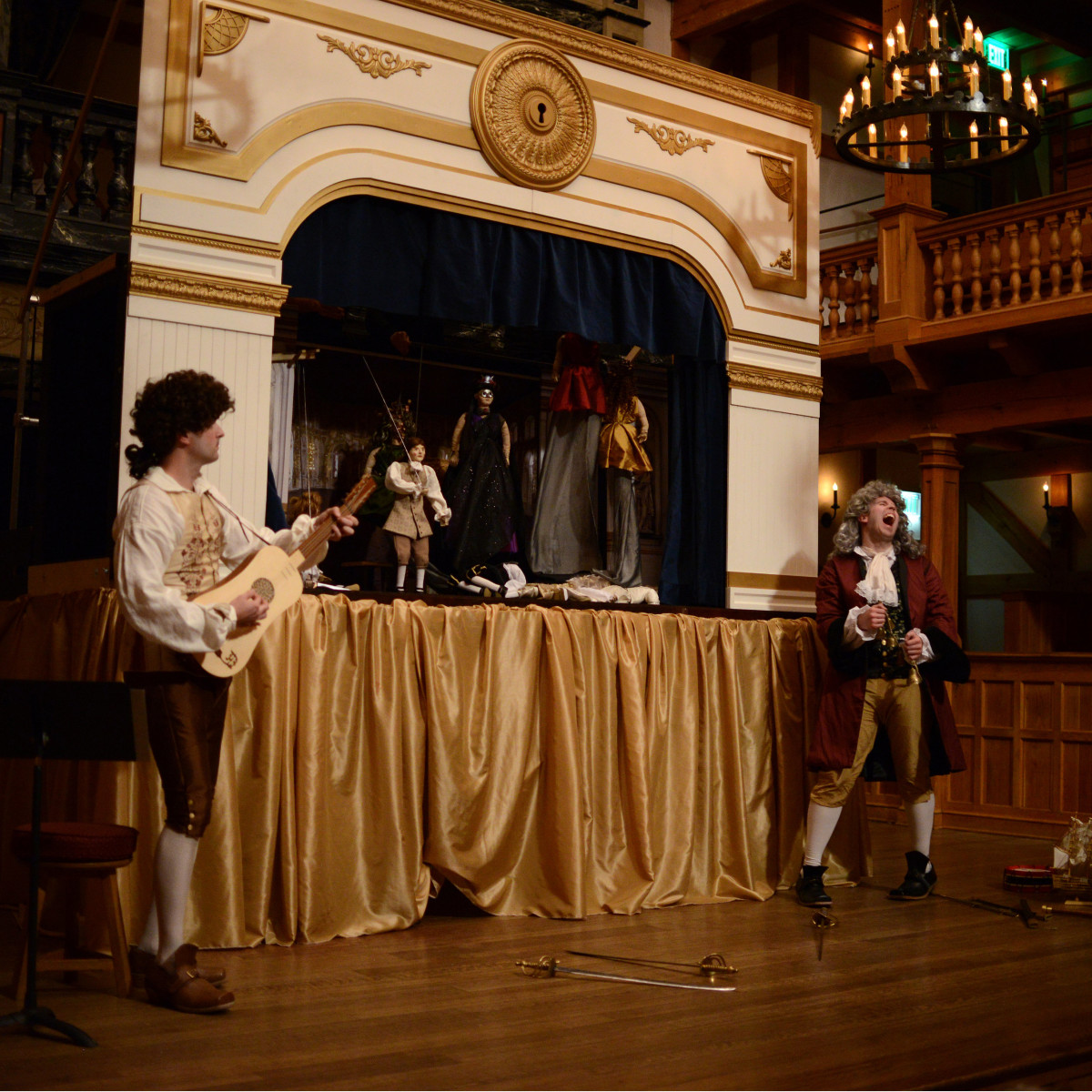 performers and puppets for the Hidden Room production of Der Berstrafte Brudermord, or Hamlet prince of Denmark