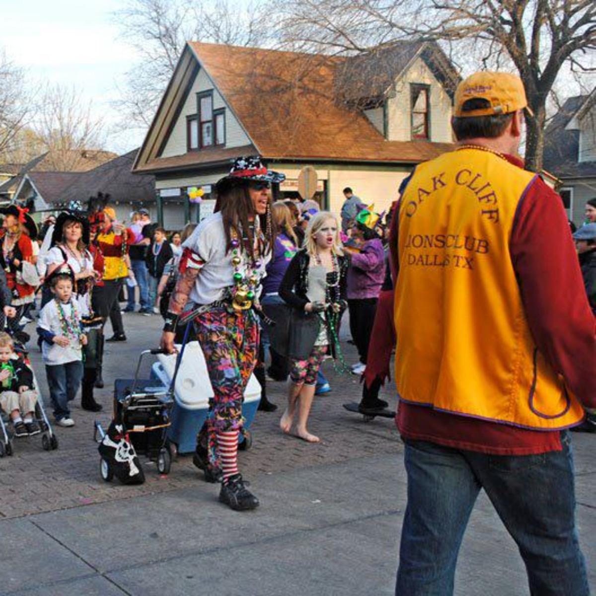 Bishop Arts District Mardi Gras Parade