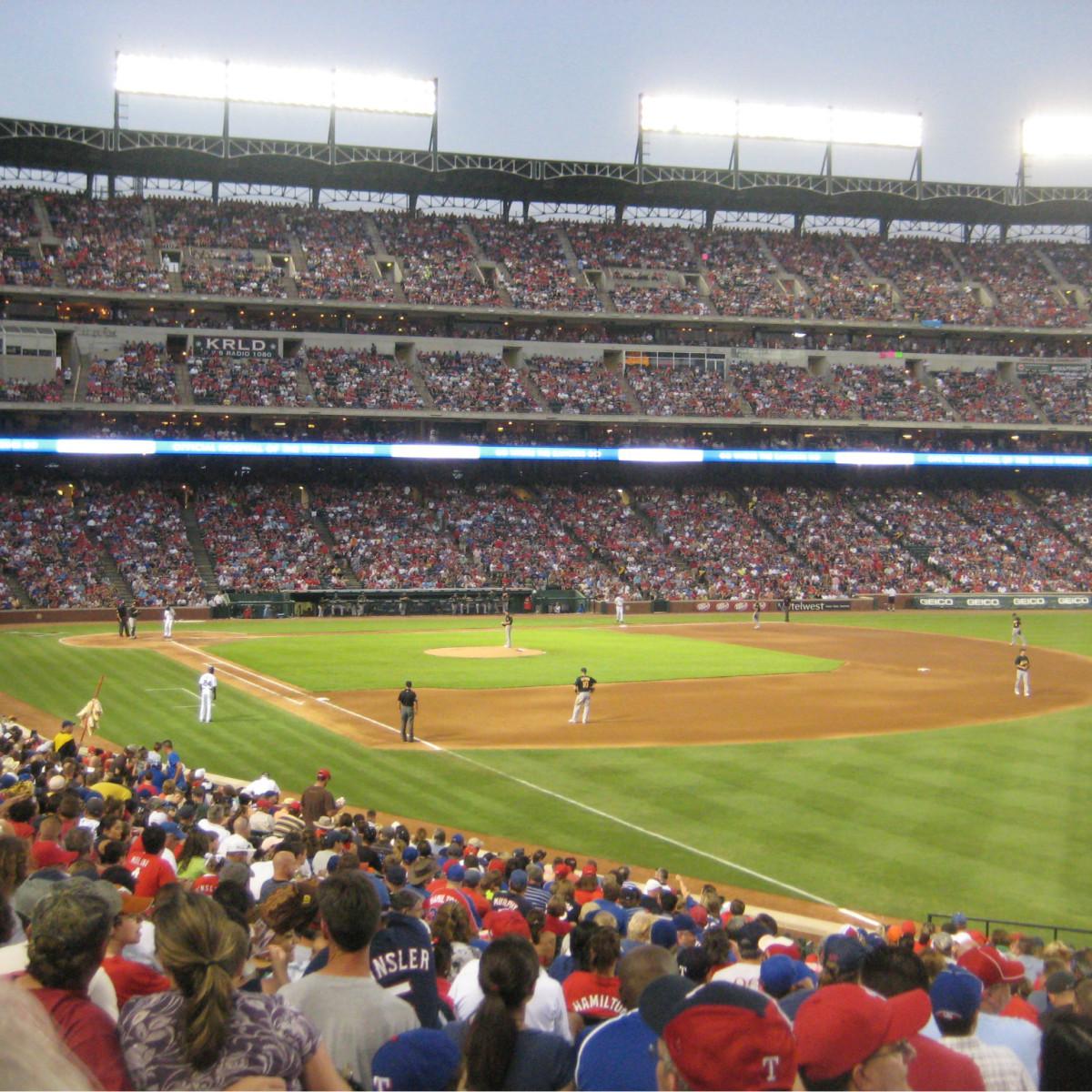 Interior of Rangers Ballpark in Arlington