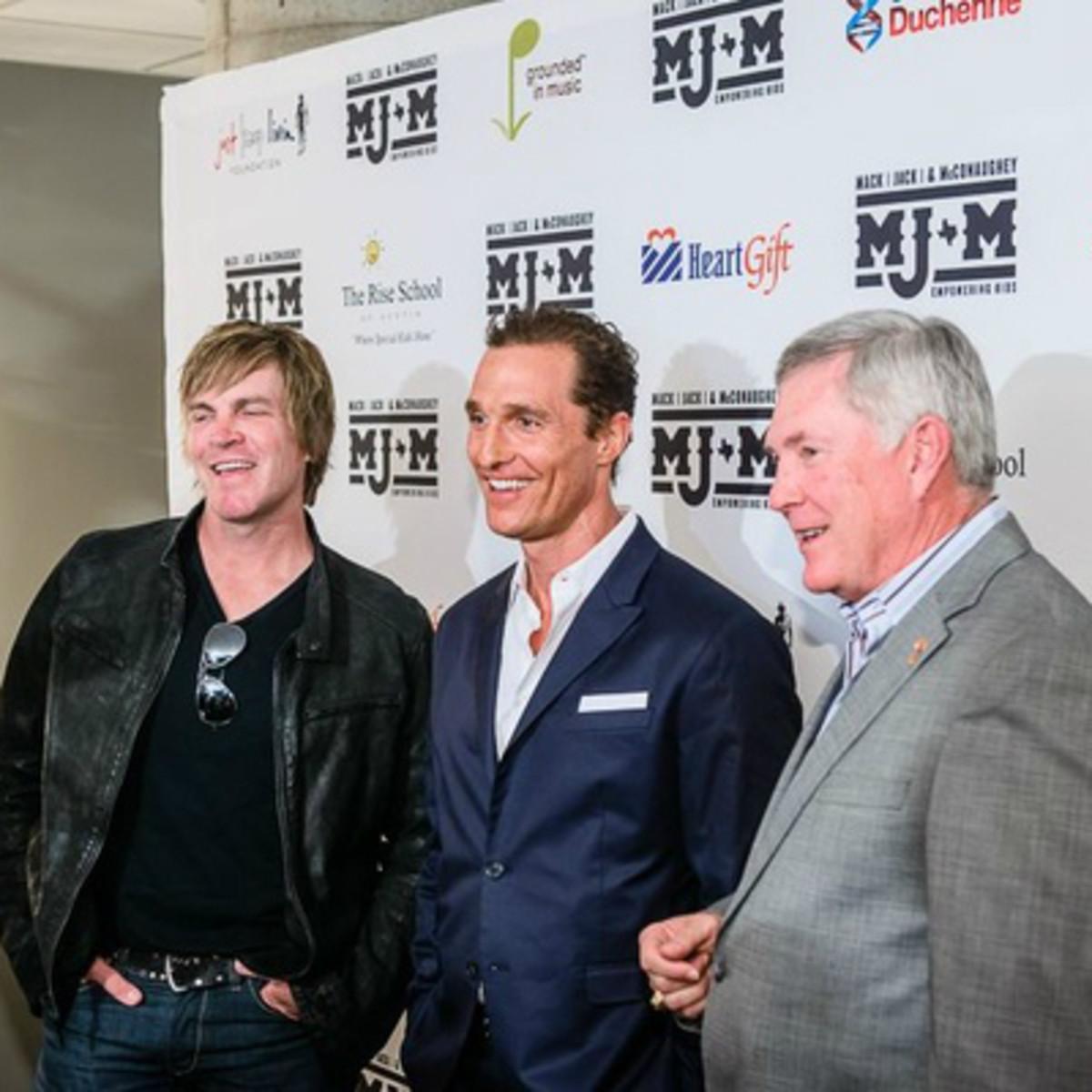 Mack Jack McConaughey benefit with Jack Ingram and Matthew McConaughey
