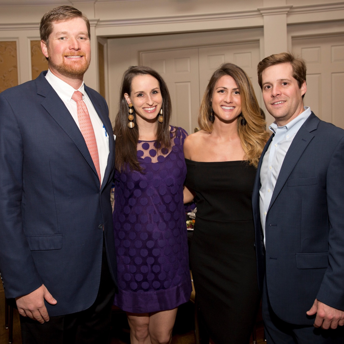 Allyson Kuper, Collins Kuper, Lexie Waterman, Todd Burgamy at Chinquapin Flashback 75 Gala