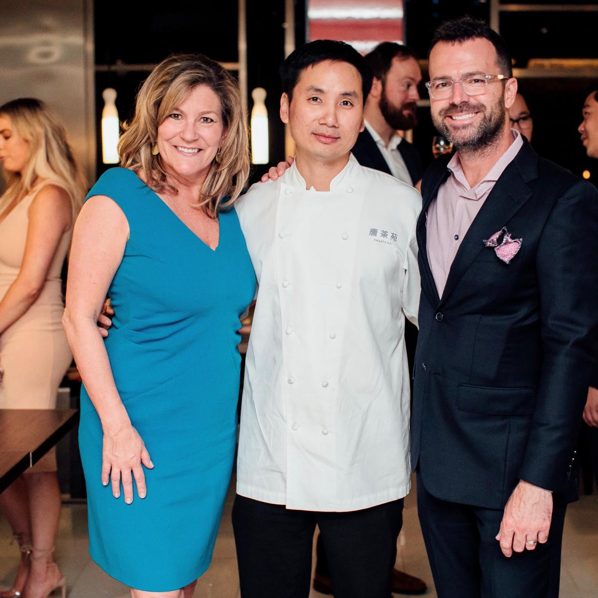 Yauatcha Opening Dianna Balabon, Chef Ho Chee Boon, Rick Tomich