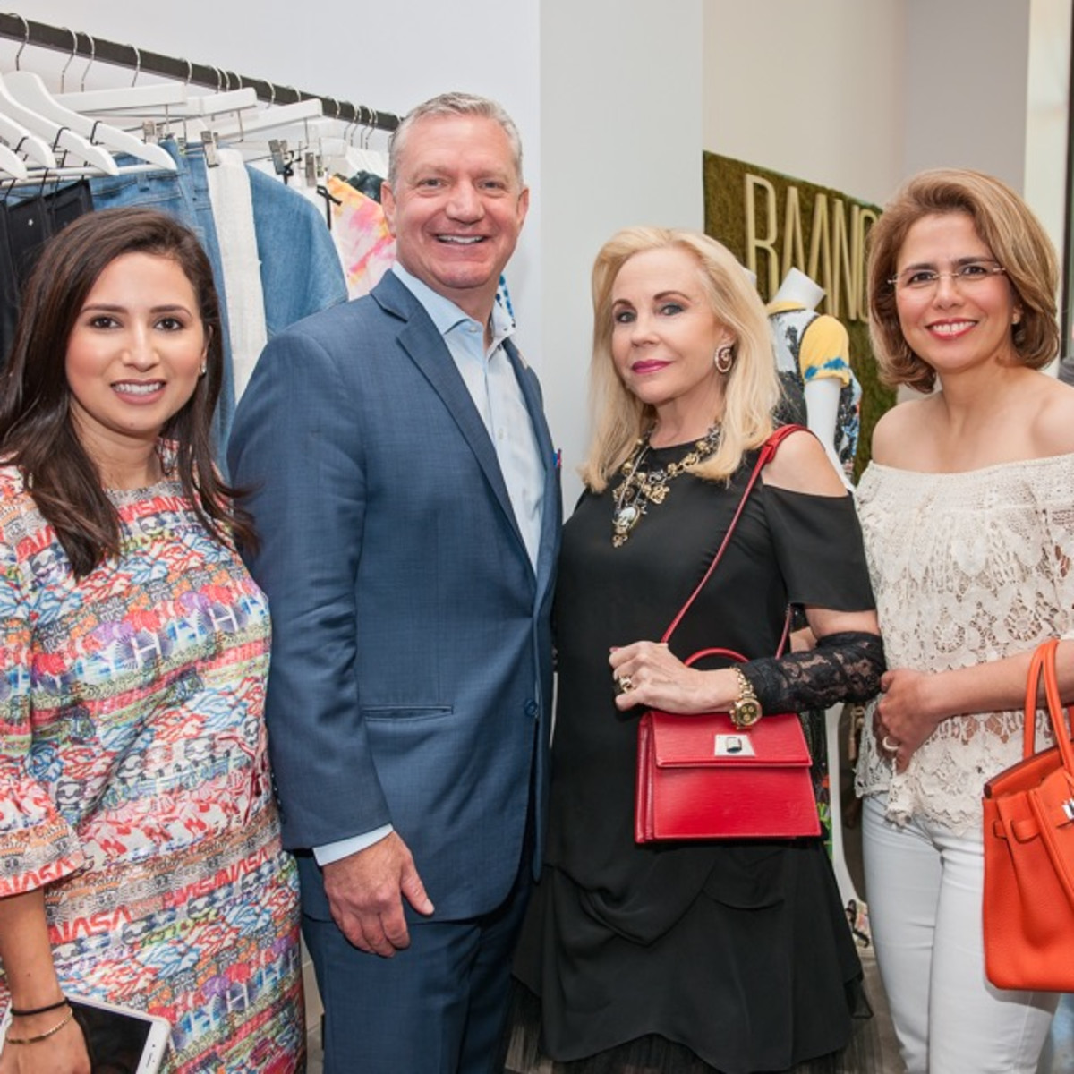 Jennifer Rivera, Mike Waterman, Carolyn Farb, Fariba Taghi at Vivienne Tam appearance at Baanou