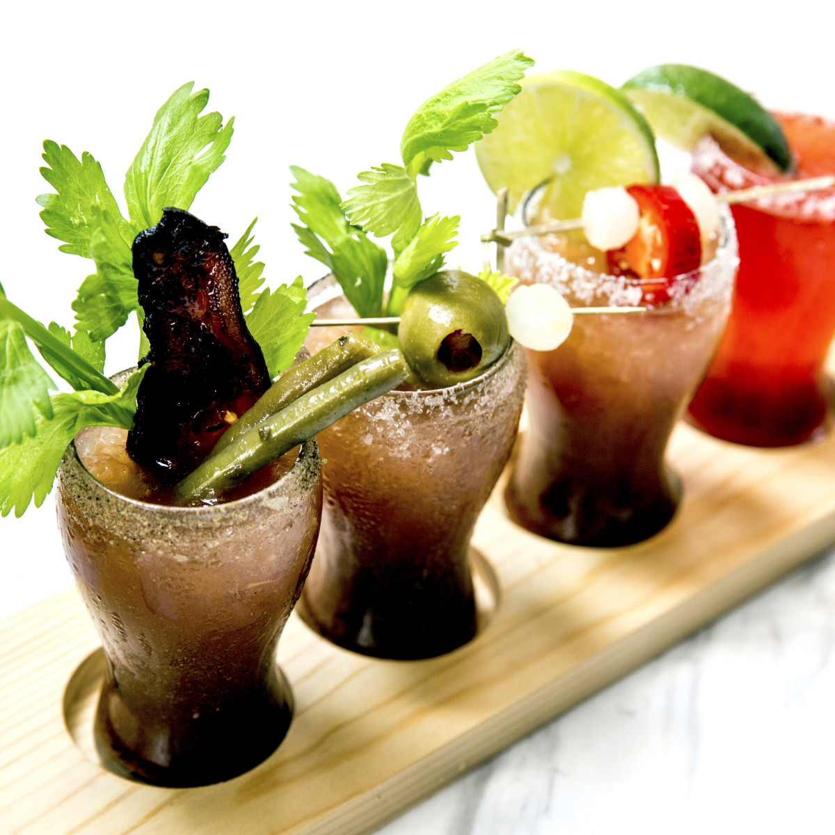 Houston, new brunches, May 2017, State Fare Bloody Mary flight