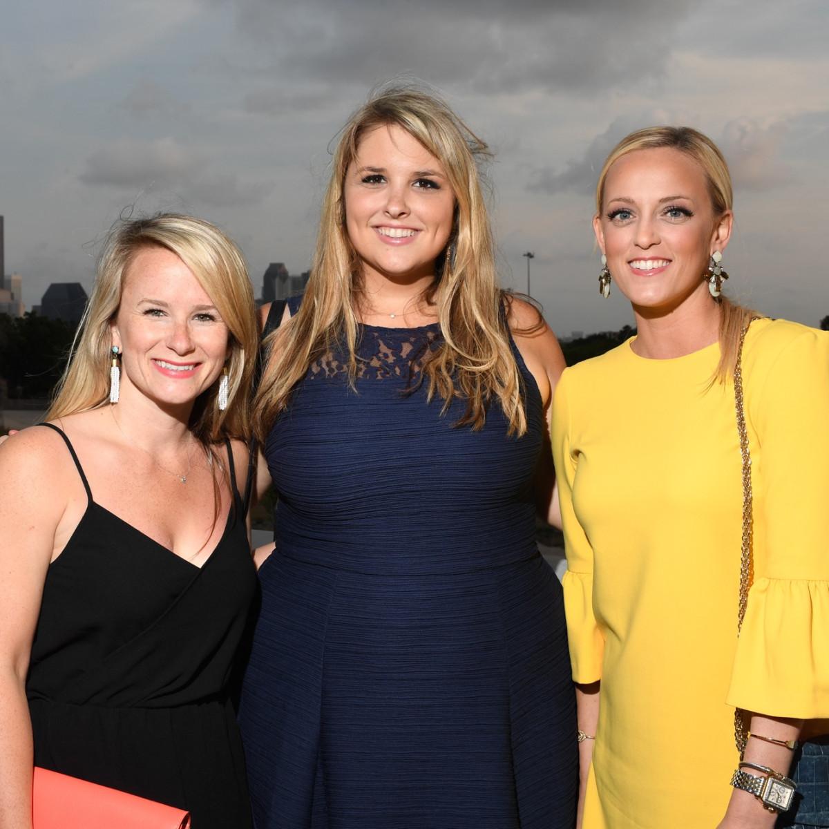 Emily White, Natali Czarneski, Courtney Sutton at Barbara Bush Foundation kickoff
