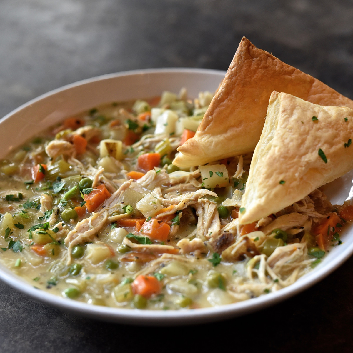 Dish Society chicken pot pie