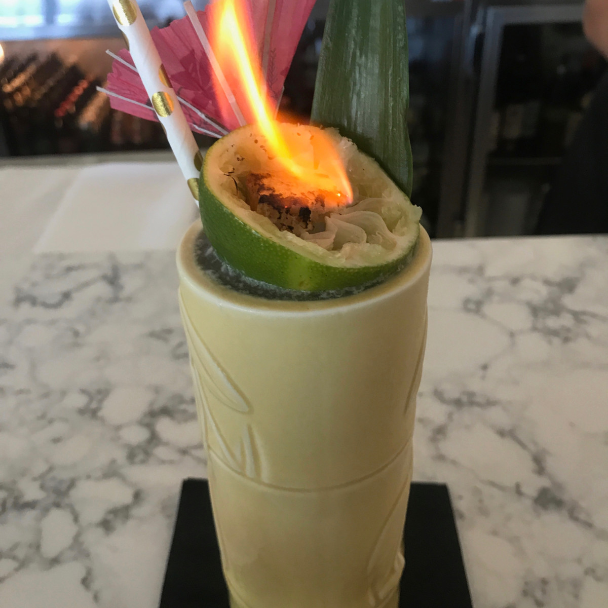 Starfish beach blond tiki cocktail