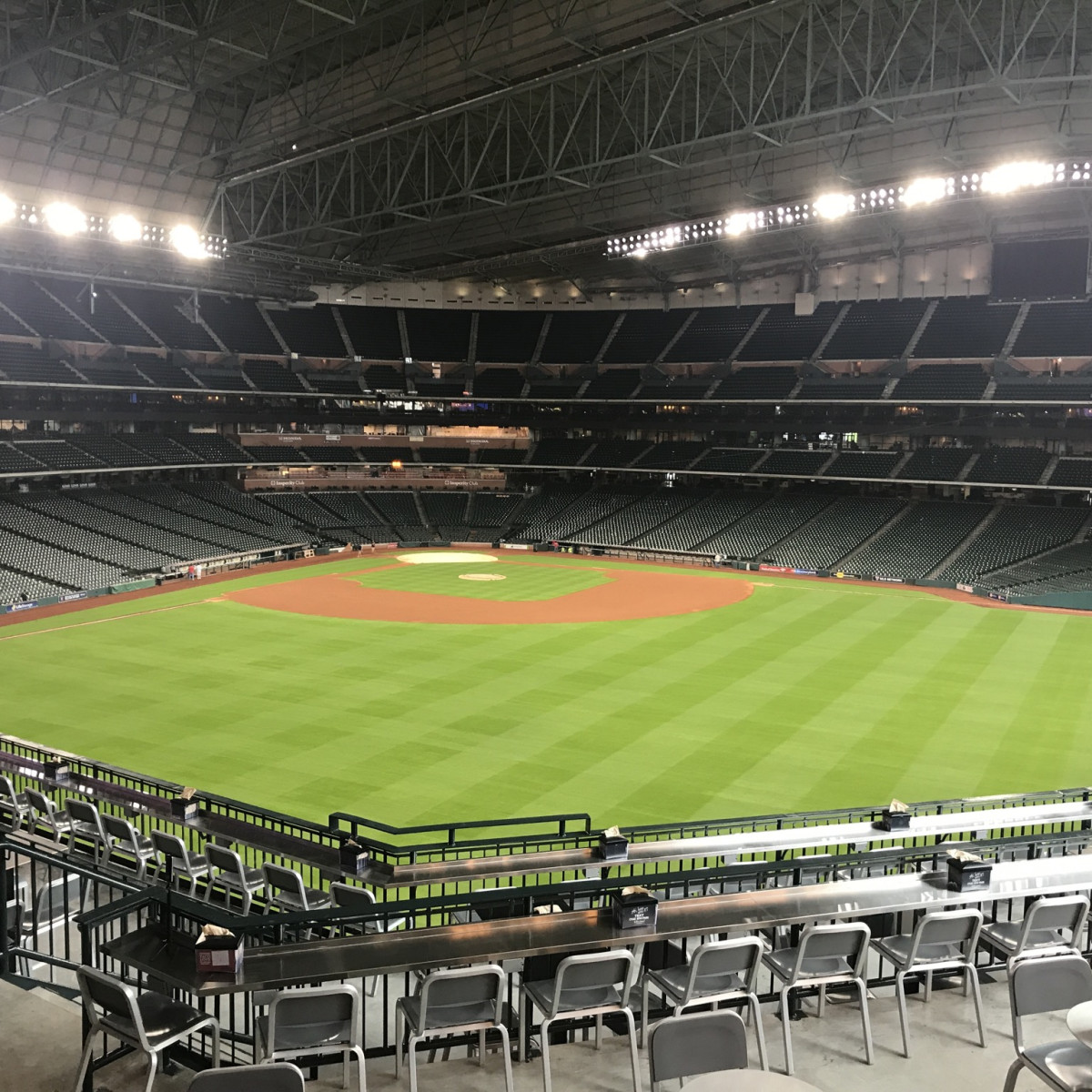 Astros Minute Maid park center field view