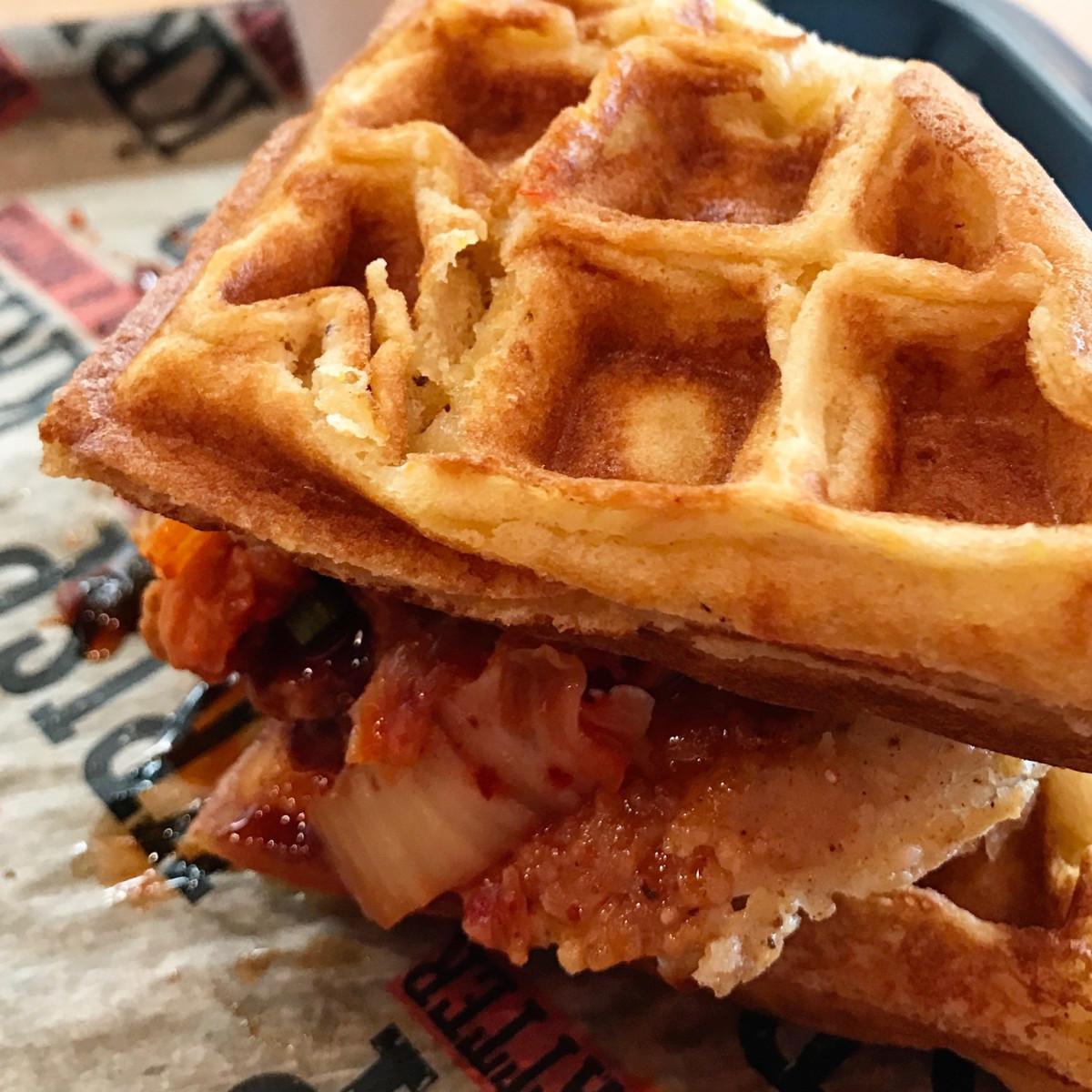 Krisp Bird & Batter Korean sandwich waffle