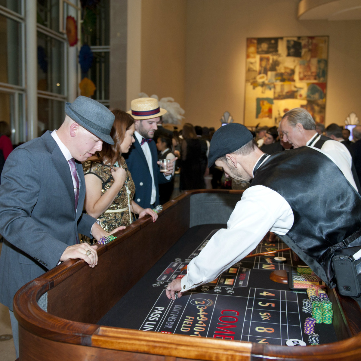 Guests playing casino games at DMA Speakeasy