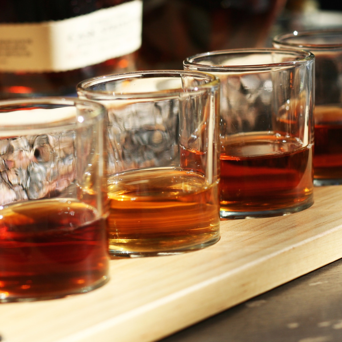 Bosscat Kitchen whiskey flights