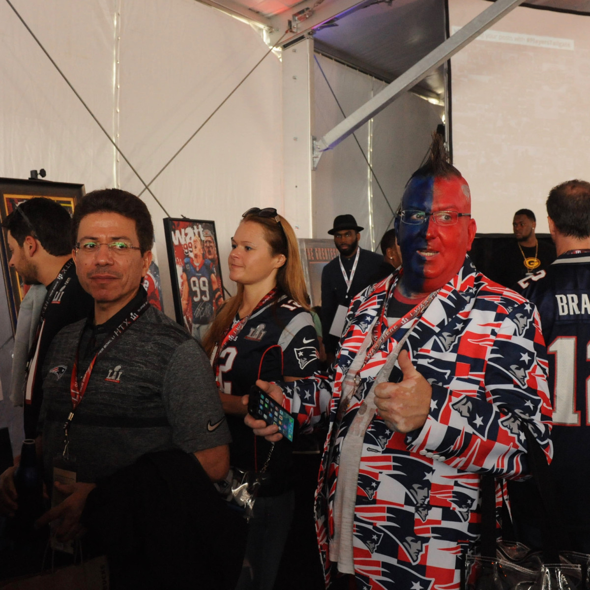Players Tailgate Patriots fan
