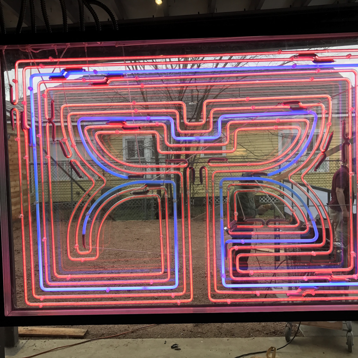 Rice Box Heights neon sign
