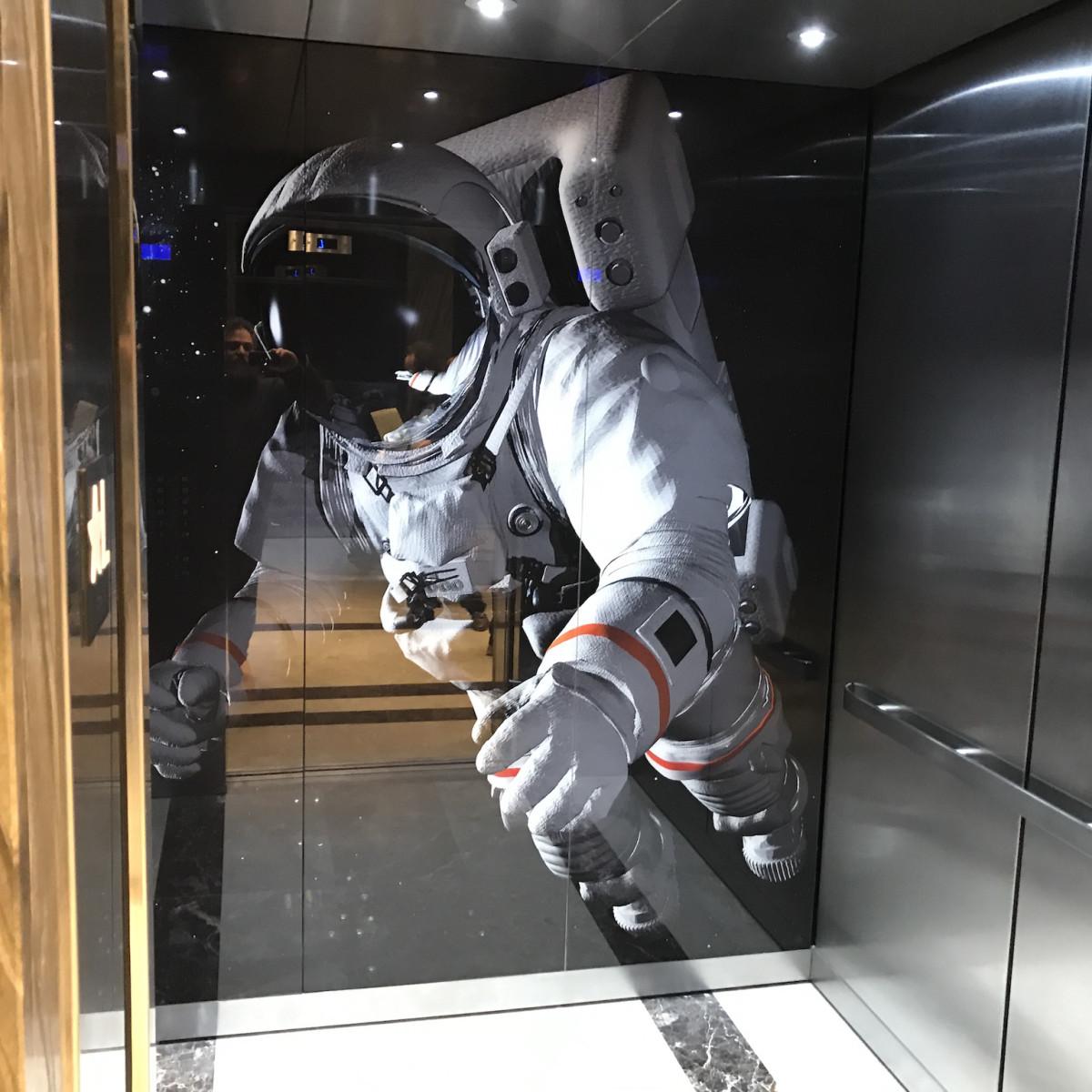 Marriott Marquis astronaut elevator