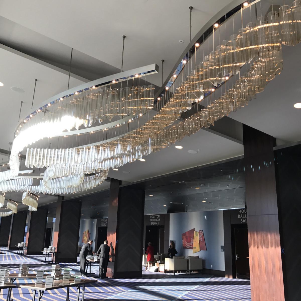 Marriott Marquis ballroom foyer