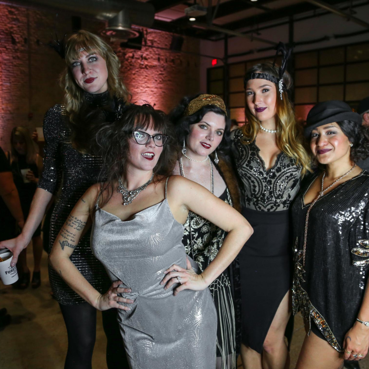 CultureMap Old Forester Bourbon Ball 2016 Maggie Leyenberger Kacy Todd Erin Freeman Katie Bykowski Wendy Bykowski