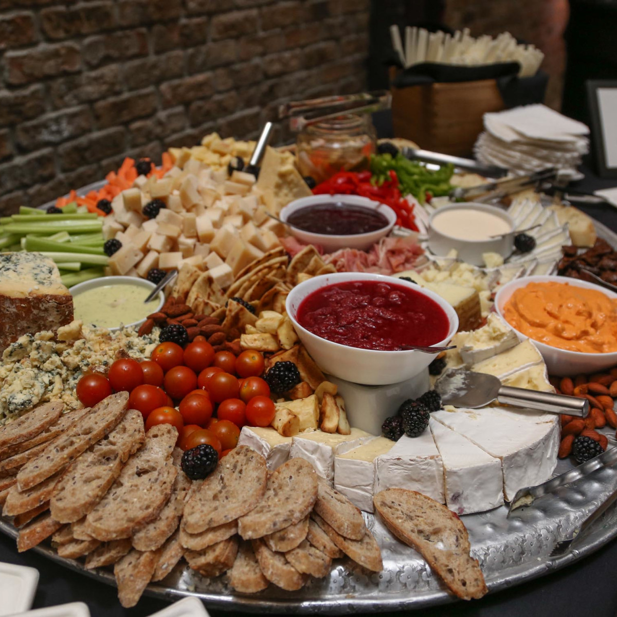CultureMap Old Forester Bourbon Ball 2016 Pink Avocado Catering Cheese Plate