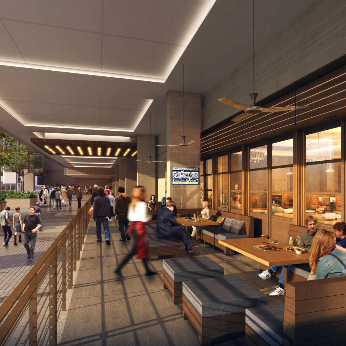Omni Frisco hotel dining rendering