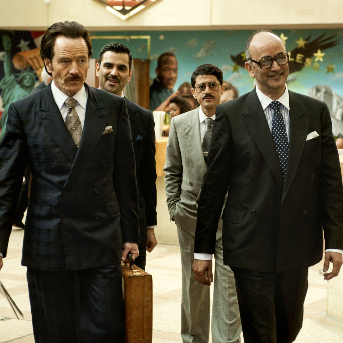 Bryan Cranston, Saïd Taghmaoui, and Art Malik in The Infiltrator