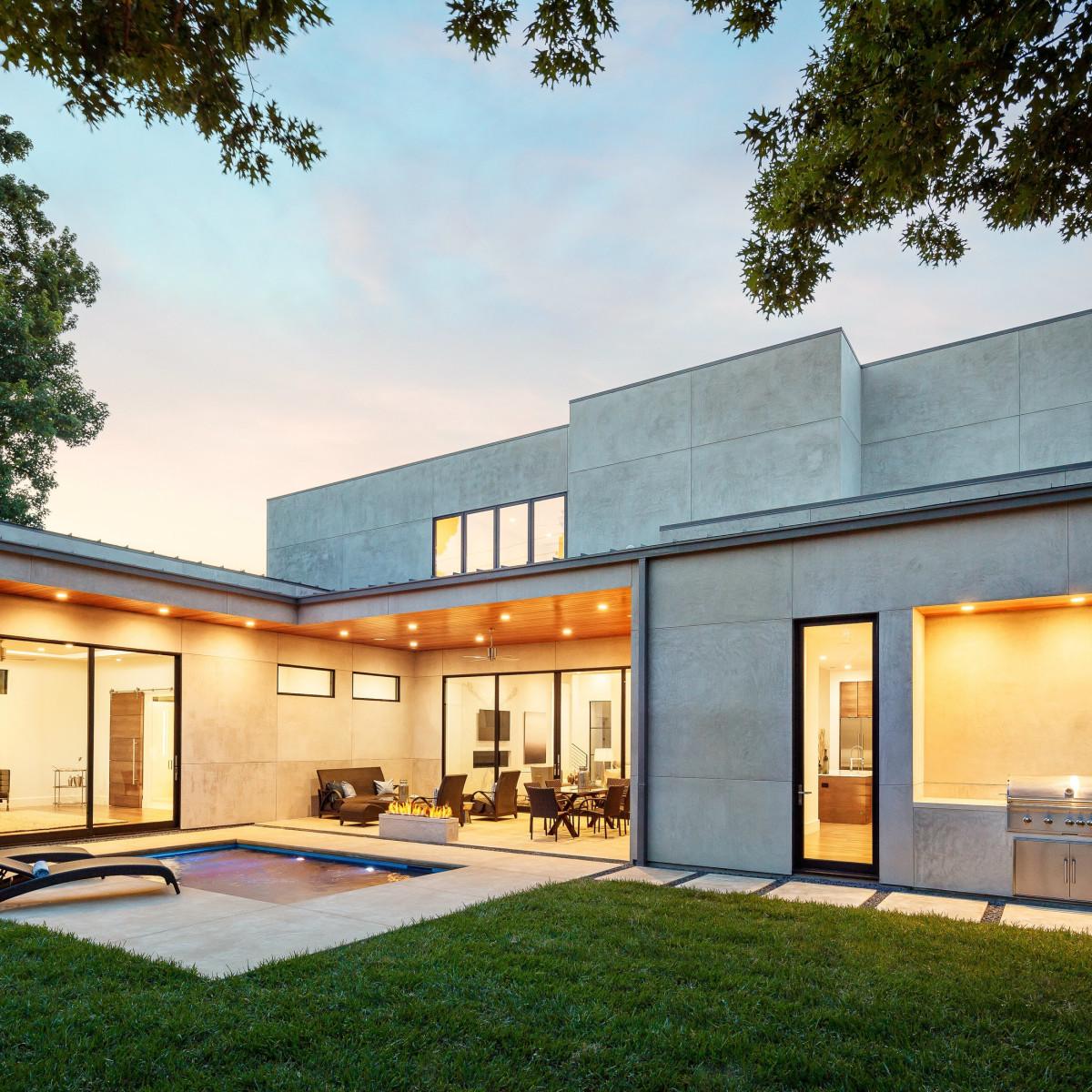 Backyard at 5746 Greenbriar in Dallas